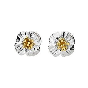Birthday Flower Sterling Silver Earings Jewellery--AUGUST----Poppy Design Presented By Sterling Effectz xrHKsc