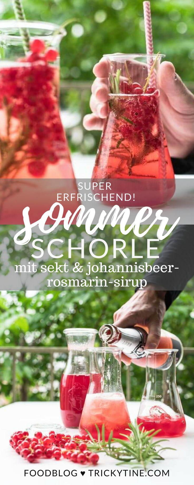 rezept für ein super erfrischendes sommer sektschorle mit johannisbeer-rosmarin…