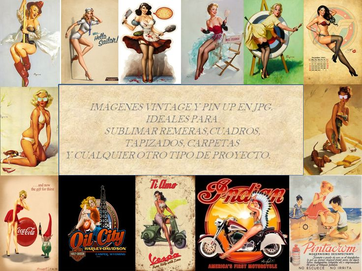 Kit De Imagenes Pin Up Ideal Para Sublimar Remeras - $ 65,00 en MercadoLibre