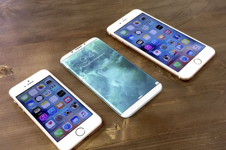 iPhone 8 concept compared to iPhone SE and iPhone 7 Plus illustrates Apple's dramatic upcoming redesign. Image credit: Benjamin Geskin