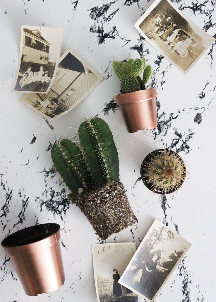Poppytalk: 5 Minute DIY – Copper Planter Pots