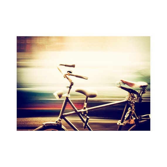 Bicycle photograph / Fine art print / Amsterdam bike / Motion blur photo / Street photography / Urban / City