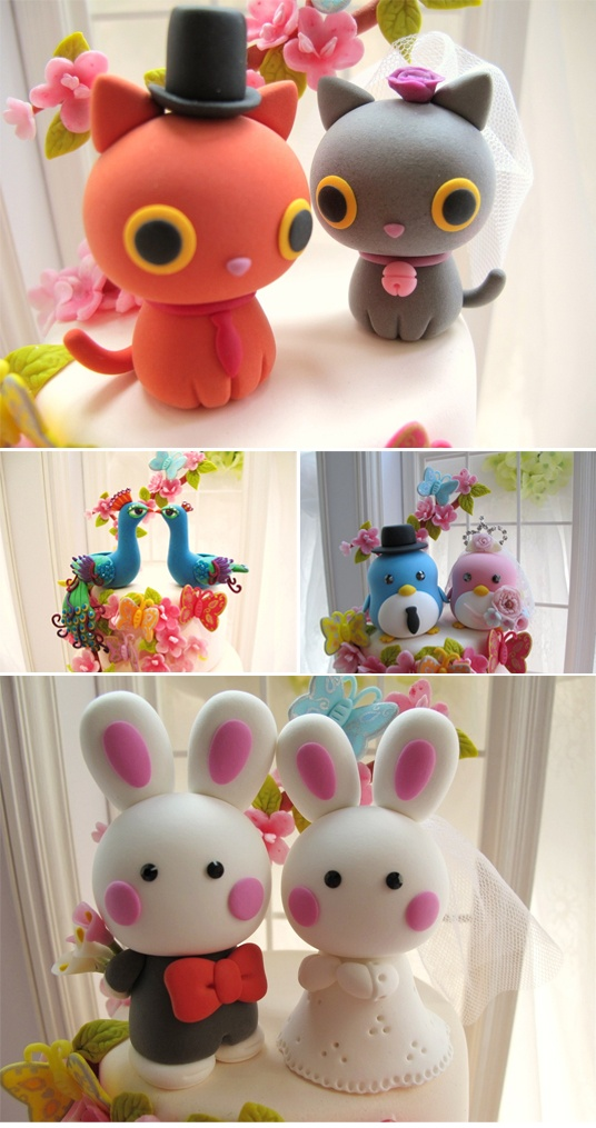 Oooh Kawaii! // Kikuike  Cake toppers - in gonna try to make my own first, but these are cute!