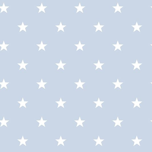 deauville stars wallpaper an pale blue wallpaper with an all over star design in white