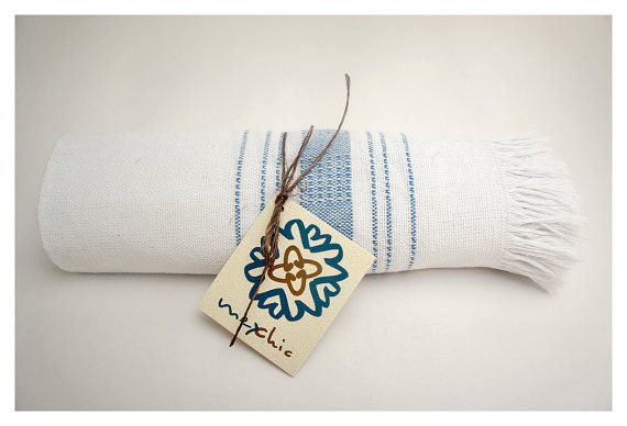 Napkin Set of 4, Hand Woven 100% Cotton in Color SKY BLUE $25