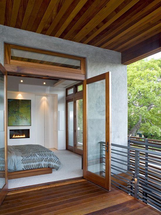 Open air bedroom.
