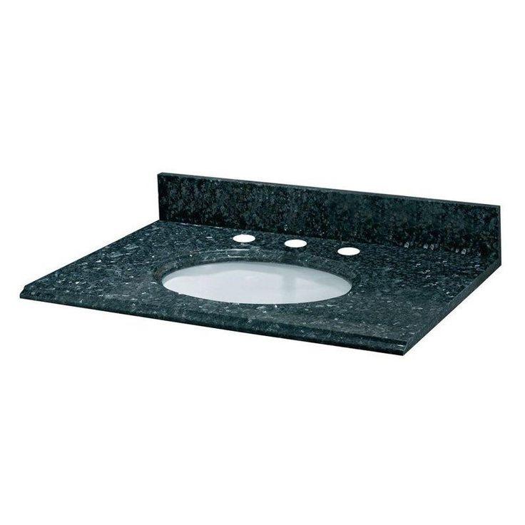 Pegasus 49W x 22D in  Granite Vanity Top with White Bowl Blue Pearl   655569. Top 25 ideas about Granite Vanity Tops on Pinterest   Granite