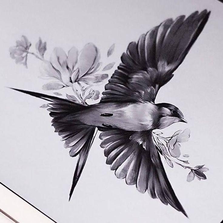 Tattoo Trends – Vogel Tattoo Design. #TattooIdeasMensSleeve