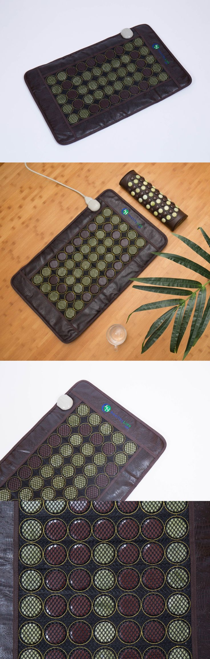 Massage Stones and Rocks: Jade Tourmaline Stones Light Mat Negative Ions Infrared Spa Heating Pad 32X20 -> BUY IT NOW ONLY: $130 on eBay!