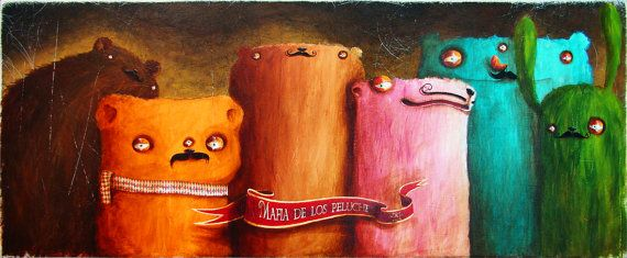 My painting reproduction / print *Mafia de los peluches* by RobertRomanowicz on Etsy