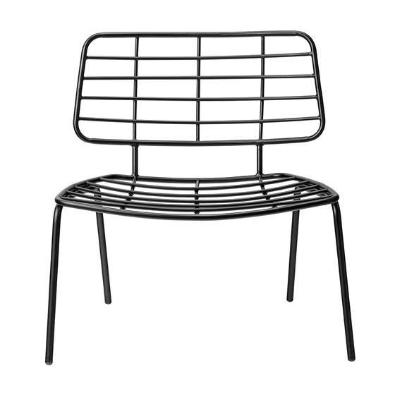 Mesh Lounge Chair, Metal Black