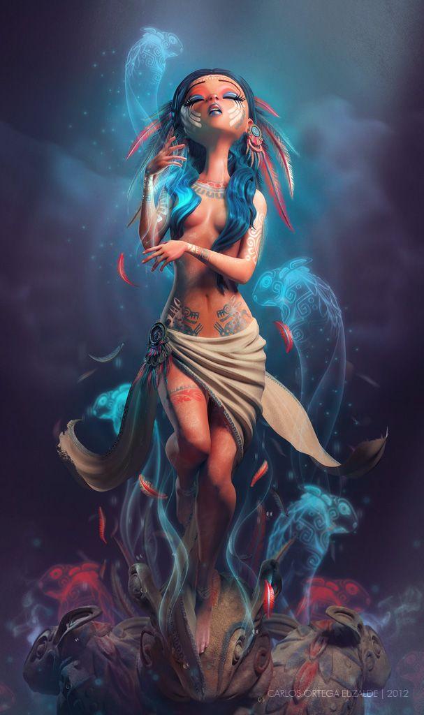 Hermosa ilustración de la llorona