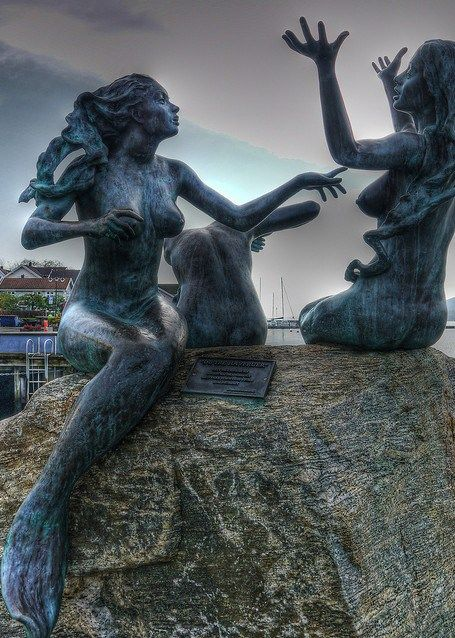 Mermaid Statues from Drøbak, Norway | ALT FOR NORGE ...