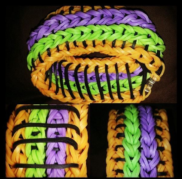 We love these amazing reversible Rainbow Loom bracelets made by one of our amazing customers for Halloween!