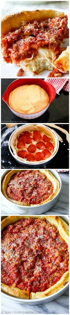 Here's how to make authentic-tasting Chicago deep dish pizza. Complete with the buttery crust, slightly sweet tomato sauce, and a thick layer of cheese.