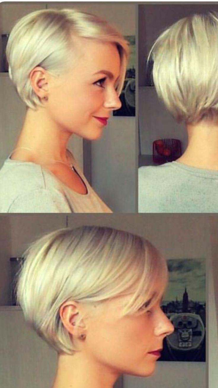 Cheveux courts et blonds #blonde #short # couleur de cheveux2019   – neuer Schni…