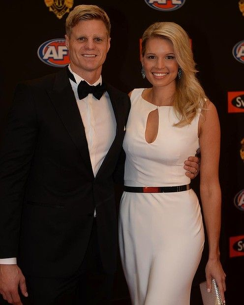 Nick and Catherine Riewoldt. AFL Brownlow 2013
