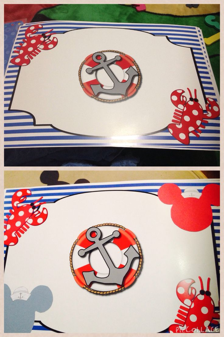 más de  ideas increíbles sobre nautical placemats en pinterest - i added mickey heads to my birthday direct nautical placemats