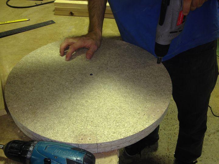 Как сделать простой круглый пуфик своими руками. Фотоотчет