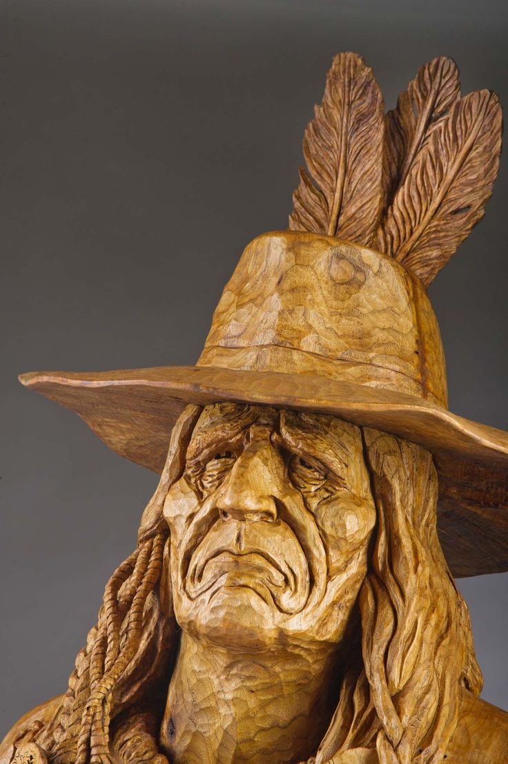 Best woodcarving face visualize bust images on