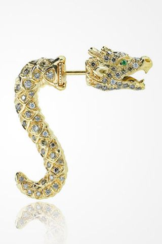 LA BOUCLE D'OREILLE DRAGON D'ELISE DRAY (Dragon earrings)