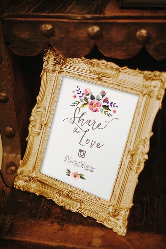 instagram wedding sign, hashtag sign,oh snap, share the love, wedding decor, reception decor, blush wedding, diy wedding, rustic, boho, garden