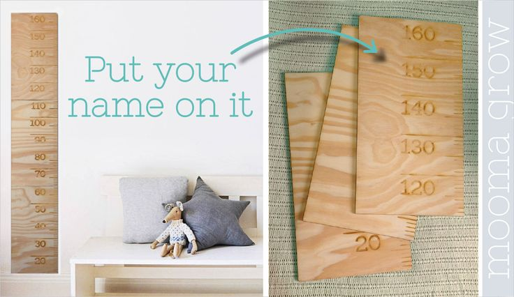 Mooma Growth Chart Make it yours! Personalise this wooden growth chart with your little one's name, a family name of a short phrase. https://www.facebook.com/MoomaDecor