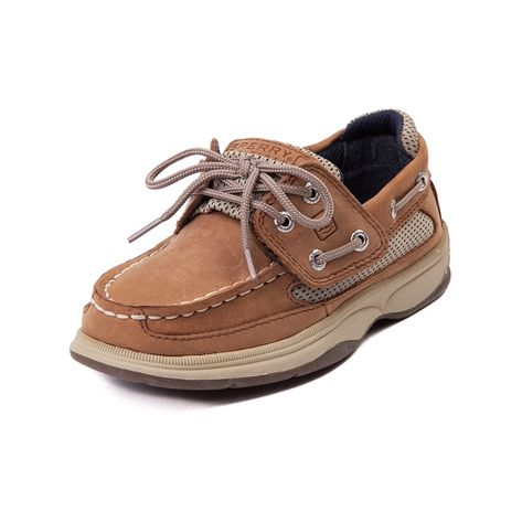 Shop for Toddler Sperry Top-Sider Billfish Boat Shoe in Tan at Journeys Kidz. Shop today for the hottest brands in mens shoes and womens shoes at JourneysKidz.com.Get on board with the Sperry Billfish boat shoe featuring a leathermesh upper for breathability, molded footbed for comfort, and slip-resistant rubber sole.