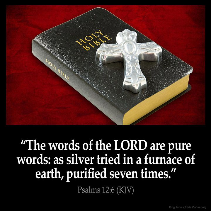 Psalms 12:6  The words of the LORD are pure words: as silver tried in a furnace…