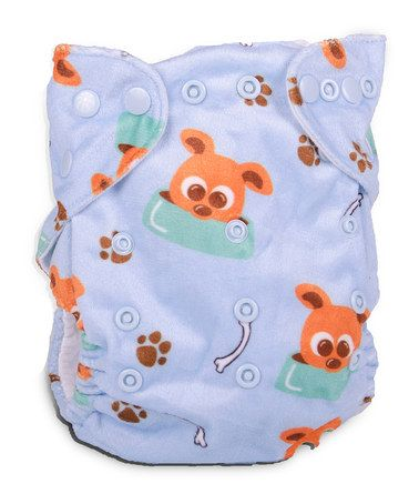 Take a look at this Fuzzy Puppy Double-Gusset Pocket Diaper by JustSimplyBaby on #zulily today!