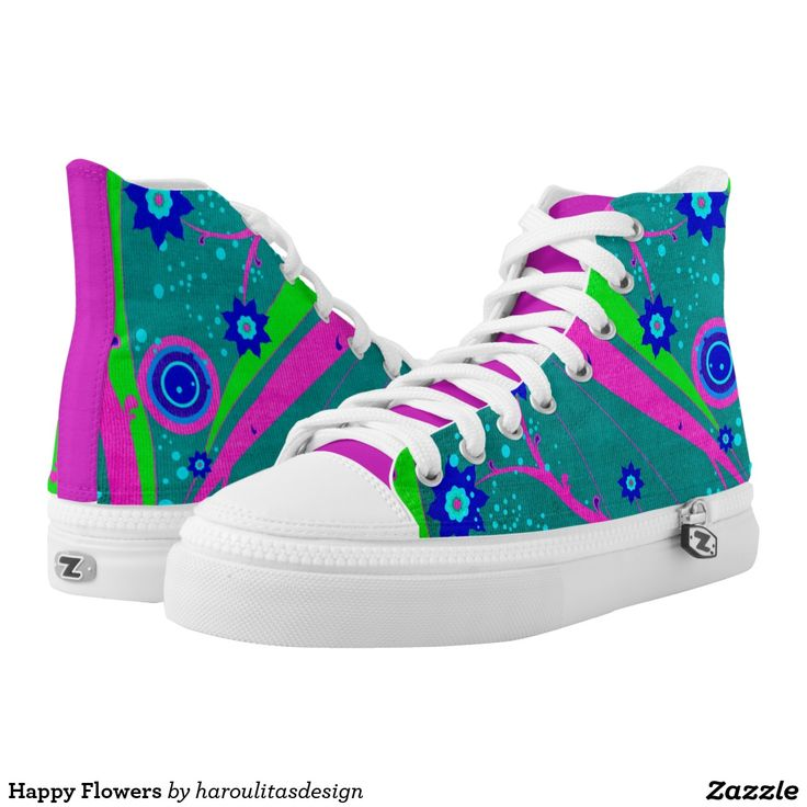 Happy Flowers Printed Shoes