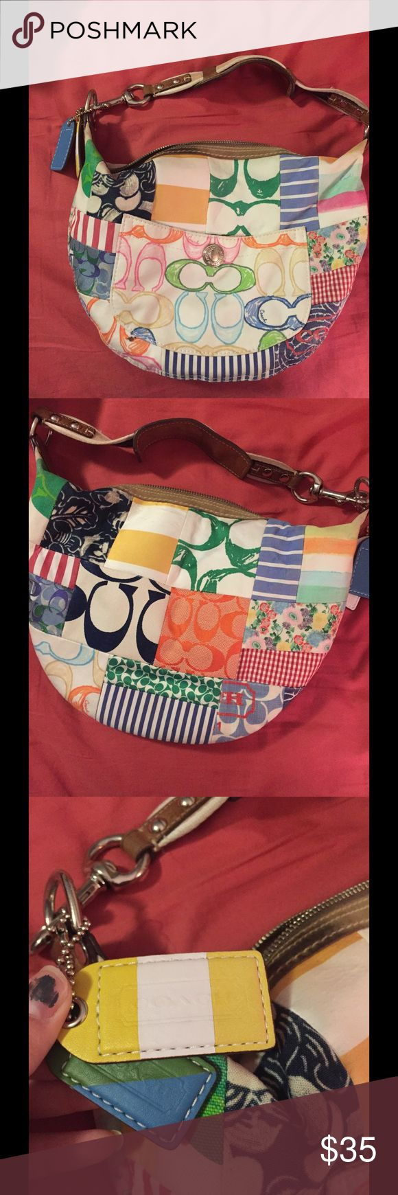"""Coach Purse Authentic. Super cute, about 12"""". Well loved but clean. Coach Bags Hobos"""