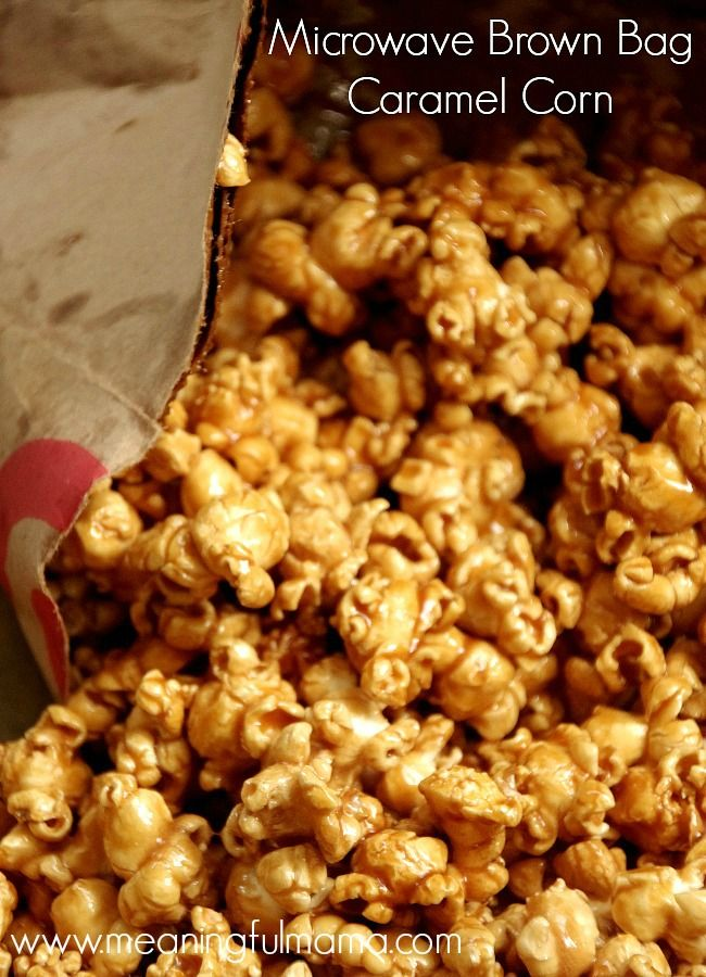 15 Minute Microwave Brown Bag Caramel Corn - The Best!!