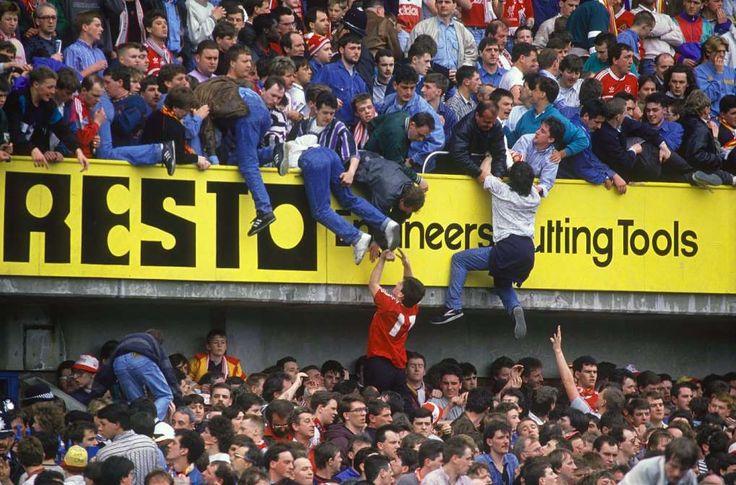 April 15,  1989: BRITAIN'S HILLSBOROUGH FOOTBALL STADIUM DISASTER  -    96 people die in a crush of soccer fans at Hillsborough Stadium in Sheffield, England.