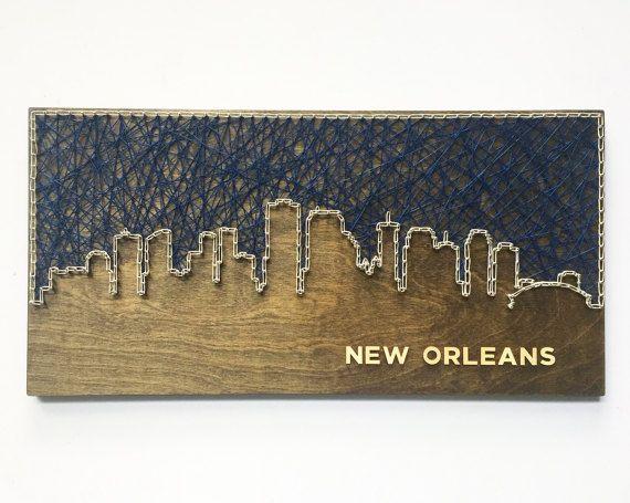 New Orleans Skyline String Art  Louisiana Art  New Orleans