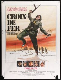 2p538 CROSS OF IRON French 1p '77 Sam Peckinpah, different World War II art by Thos & Ferracci!