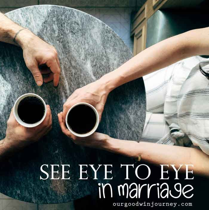 See Eye to Eye - How to see eye to eye in marriage. Because it IS actually possible to learn to see eye to eye with your spouse.