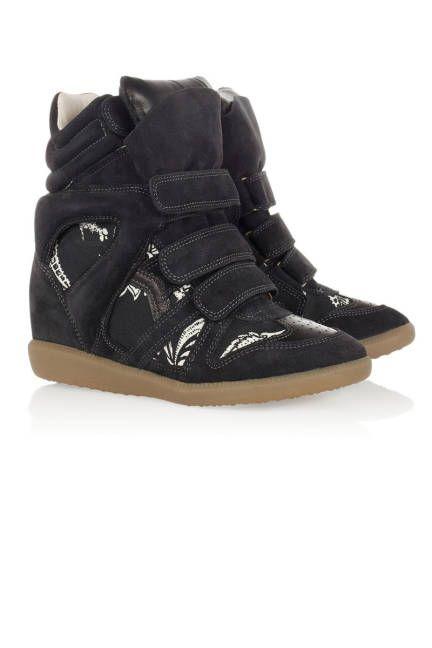 Isabel Marant The Bekett Wedge Sneakers.