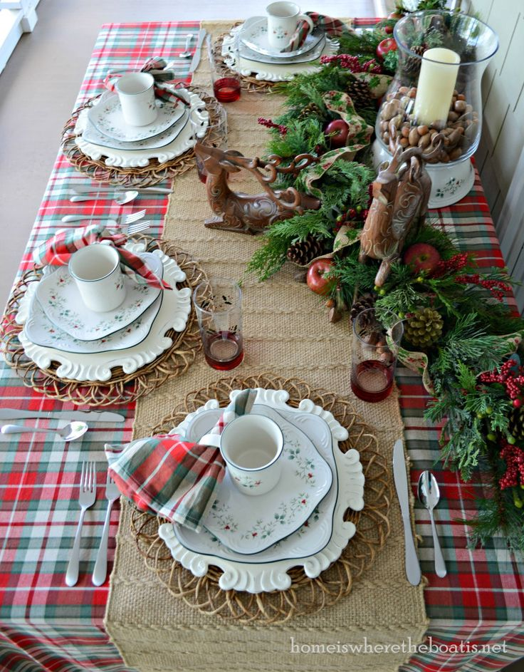 Oltre 1000 immagini su Christmas - Table decor... su Pinterest ...