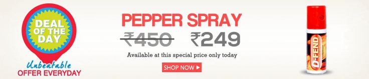 D-fend Self Defence Pepper Spray at Rs.279