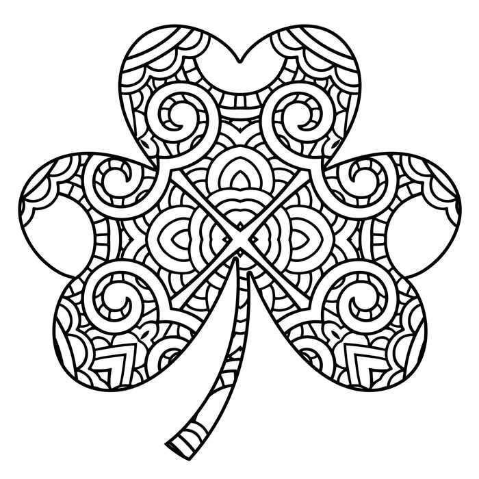 Intricate Shamrock Coloring Page Szinezolapok