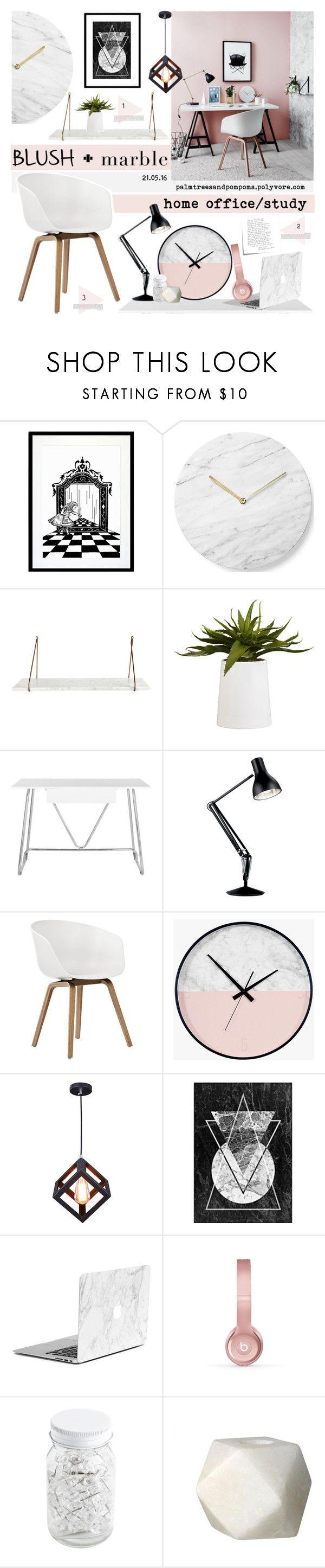 """Blush + Marble"" by palmtreesandpompoms ❤ liked on Polyvore featuring interior, interiors, interior design, home, home decor, interior decorating, Eleanor Stuart, Menu, CB2 and Safavieh"