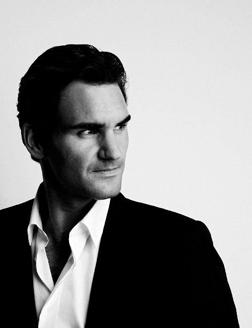 """ Roger Federer, ambassador for Moet & Chandon champagne """