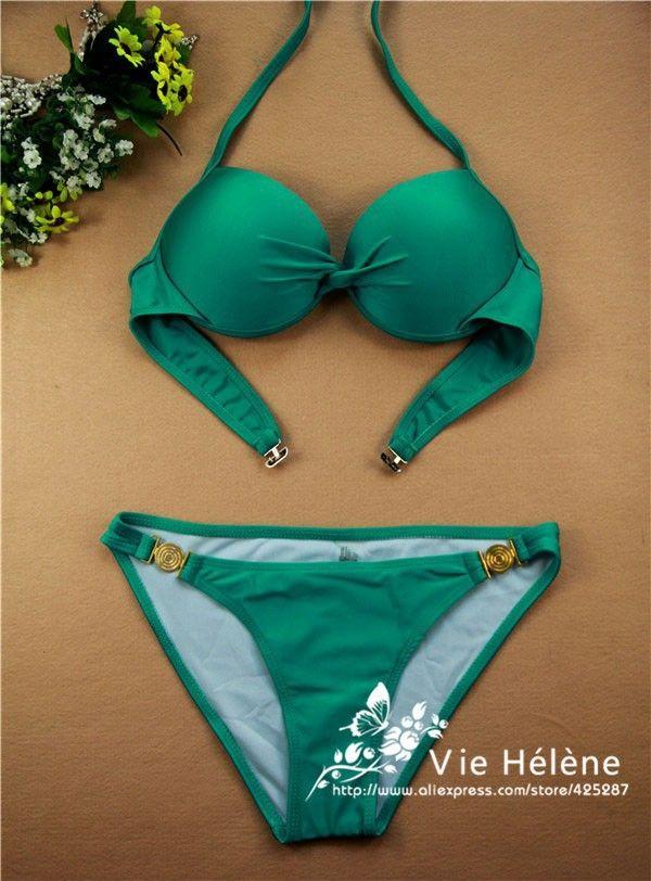 Cheap bikini brazilian, Buy Quality bikinis small directly from China bikini swimwear Suppliers:  2014 New Push up Bikini neoprene Swimwear sexy Cheap Brand Bandage Retro Swimsuit for Women