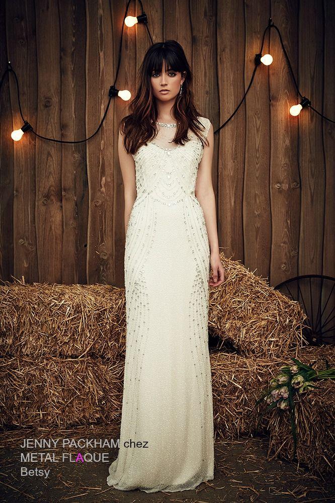 Betsy, robe de mariée Jenny Packham à Paris.  #robedemariée #robesdemariée #weddingdress #weddingdresses #JennyPackham