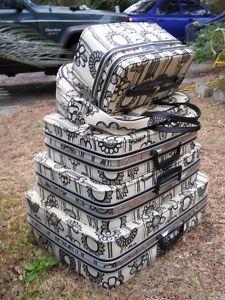 vintage Marimekko luggage