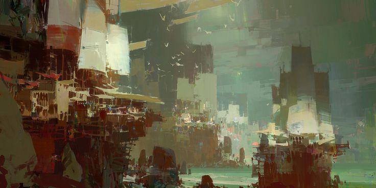 Kite City 2 - Guild Wars 2, Theo Prins on ArtStation at http://www.artstation.com/artwork/kite-city-2-guild-wars-2