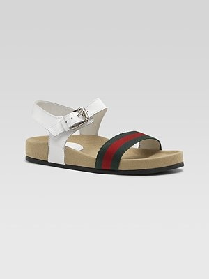 848960b019e Gucci webbed and leather sandals! Love these!! SO chic!