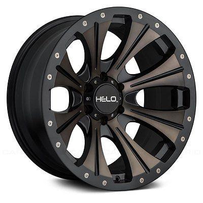 Helo Wheels - He901 Rims Satin Black With Dark Tint