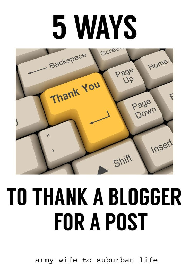 Ways To Thank A Blogger